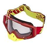 Gafas de Motocross Antivaho Gafas de Moto para Motocicleta Gafas de Esquí Anti UV Anti Viento Anti Polvo con Correa Ajustable Gafas Deportivas de Protección para Dirt Bike Racing MTB Snowboard, M