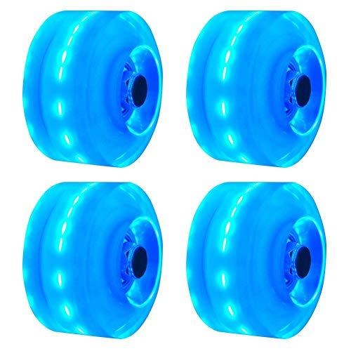 Leuchtend Skateboard Räder, 4PCs / Set Räder Quad Roller Skate/Skateboard Räder Für Doppel Reihe Skating Und Skateboard - Blau