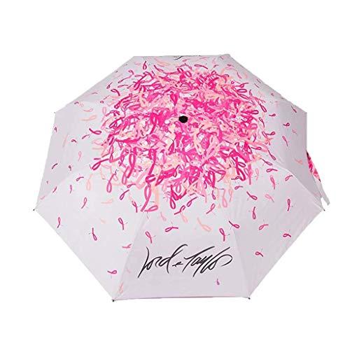 Paraguas plegable ligero mini paraguas impresión creativa tres pliegues paraguas para damas doble protección UV paraguas plegable fácil de llevar YXF99