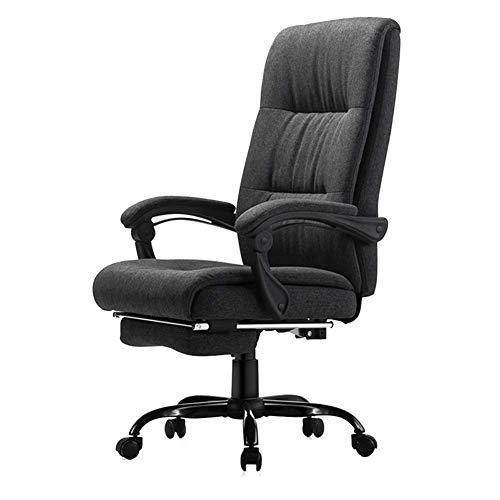 QQXX Gamingstoel, computerstoel, doek, stoel, bureaustoel, stoel, draaistoel, fauteuil, comfortabel huishouden, kleur: donkergrijs, maat 4965108-114 cm. 2 2
