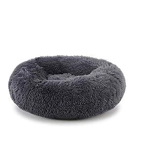 OCSOSO Cat Bed Plush Dog Cat Cushion Soft Cuddler Kennel Soft Puppy Sofa Deep Sleeping Bag with Cozy Sponge Non-Slip Bottom for Small Medium Pets Snooze Sleeping Autumn Indoor, Machine Washable