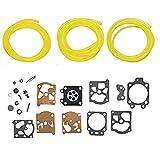OxoxO - Kit di aghi per guarnizioni a membrana carburatore con 3 dimensioni per Walbro Echo Homelite Husqvarna per motosega Walbro, ricambio K20-WAT
