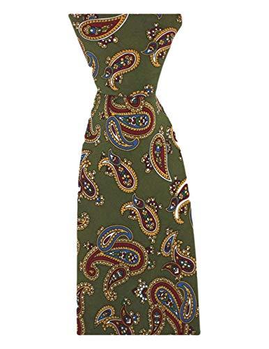 David Van Hagen Cravate vert vintage de
