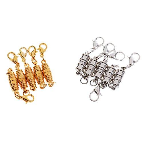 Milageto Conector con cierre de mosquetón, piezas con cierre magnético en espiral estriada.