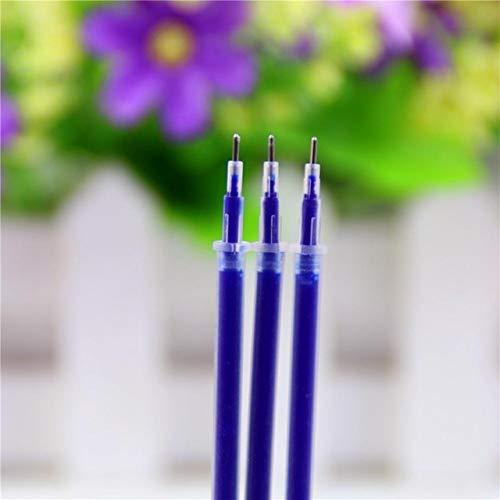 XGQ 100 piezas de repuesto de bolígrafo de gel de tinta neutra de 0,38 mm (punta de aguja de rojo) (color: punta de aguja de azul)