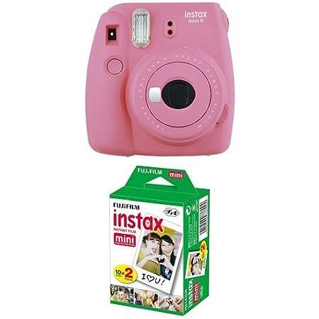 Fujifilm Instax Mini 9 Kamera Flamingo Rosa Mit Film Kamera