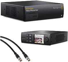 Blackmagic Design Web Presenter with Blackmagic Design Teranex Mini Smart Panel and Pearstone 3' SDI Video Cable