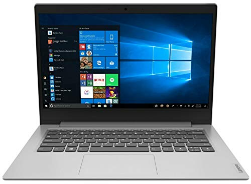 Lenovo IdeaPad 1i 14 Inch HD Laptop - (Intel Celeron N4020, 4 GB RAM, 64 GB eMMC, Windows 10 Home S Mode) - Platinum Grey