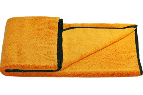 Glart T44WG super saugfähiges weiches Hundetuch Haustierhandtuch, Mikrofaser Hunde Badetuch 90x60 cm, orange