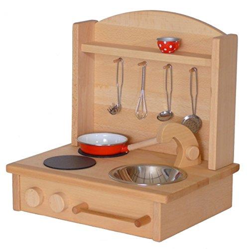 Kinderherd Zwerg 2012G Massivholz - Kinder-Tischküche - Spielständer-Küche