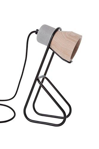 Specimen spe140215Cément Wood lámpara de mesa metal 15W E14, metal, negro, E14 15 wattsW 110 voltsV