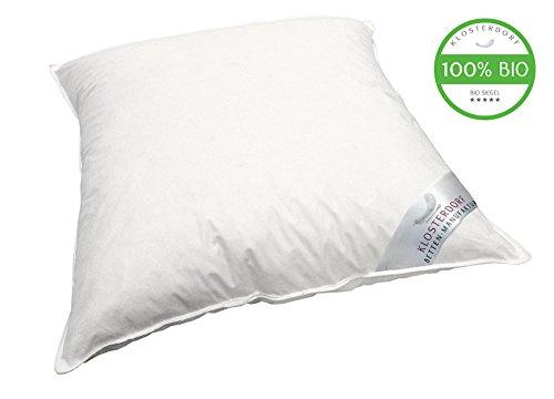 Klosterdorf Bettenmanufaktur Premium Coussin pour Enfants Bio-Line! ''krümmel'' | 80x80 cm | 150 grammes | Travail Artisanal Allemand | 100% Bio
