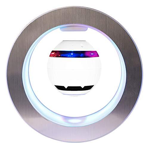 BZDBZ Tragbarer Subwoofer Mit Magnetischer Aufhängung Runder LED-Rahmen 360 ° Drehbares Bluetooth-Audio Creative Home Audio