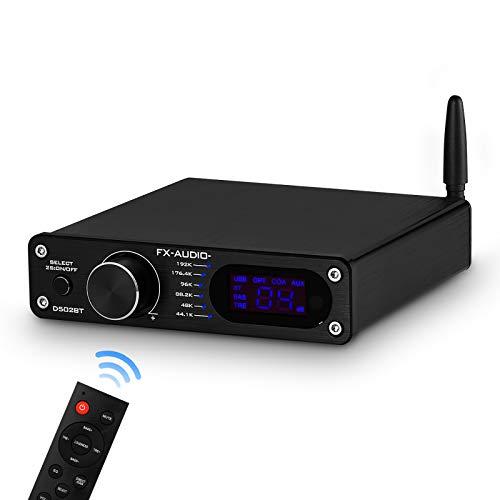 Amplificador digital Bluetooth 5.0 integrado USB/Coax/Opt Desktop Stereo Audio Amp amplificador con...