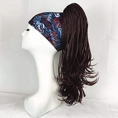 Dreadlocks Trenzados Clip-On Ponytail Claw/Jaw Clip Hairpiece Black/Dark Brown Long Straight Hair sintético (Color : 8TT124, Stretched Length : 20inches)