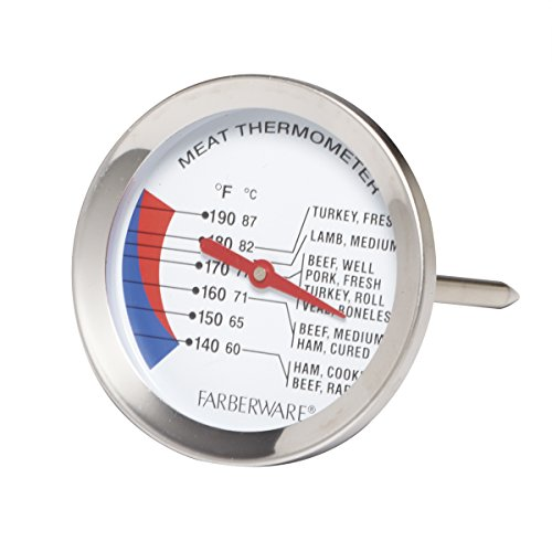 Farberware Meat Thermometer, One Size, Stainless Steel