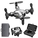 Mini Foldable Drone,Portable Suitcase Folding,Pocket Drone-360 Degree Flip, Quadcopter Toy for Kids Gift,Small RC Drone with Altitude Hold, 3D Flips and Headless Mode Easy to Fly for Beginners (Gray)