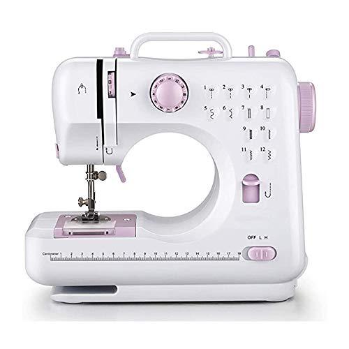 Nynelly Mini Machine à Coudre lectrique 12 Types de Points différents,Couture Automatique, avec la lumière,Tiroir caché