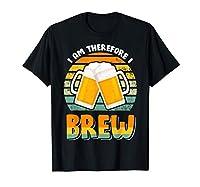 I am therefore i brew. Une idée de cadeau sympa pour les amateurs de bière Drôle de design de la bière de la salle de brassage pour tout Homebrewer qui veut montrer son savoir-faire en matière de bière artisanale pour un anniversaire ou Noël Léger, C...