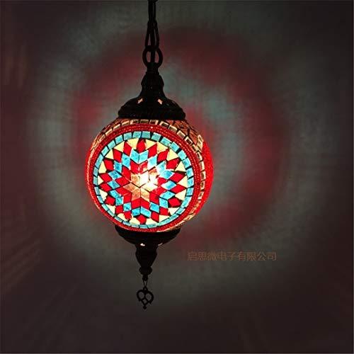 Türkei Ethnische Zollhandgemachte Mosaik Lampe Romantisches Cafe Restaurant Bar Baum hängende Licht Bar Pendelleuchte BBR