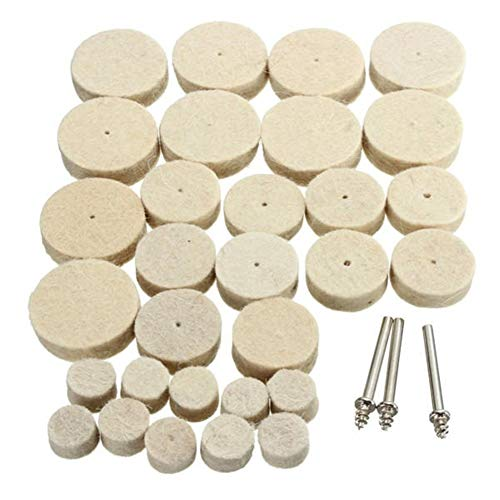 Buy Bargain Multitool Sanding Kits 33pcs Wool Polishing Wheel Grinder Accessories for Rotary Tool for Sanding, Grinding, Cutting, Removing Grout