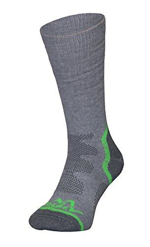 Tashev dames Trail Trekking sokken Thermocool en Bavlna Active Cotton voor hoge wandelschoenen ontworpen voor veeleisende wandeltochten maten van S tot L (36 tot 44) grijs-groen