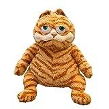 Fat Orange Cat Plush Fat Kitten Stuffed Animals Toy, 11.8Inch Lifelike Yellow Tabby Cat Kitty Toy Kids Children Xmas Birthday Gifts