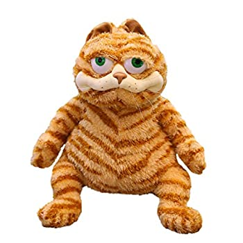 Fat Orange Cat Plush Fat Kitten Stuffed Animals Toy 11.8Inch Lifelike Yellow Tabby Cat Kitty Toy Kids Children Xmas Birthday Gifts