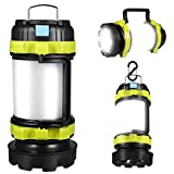 Rechargeable Led Torch, Multi-functional Camping Light, Camping Lantern with 6 Modes, Waterproof Outdoor Spotlight Searchlight Flashlight
