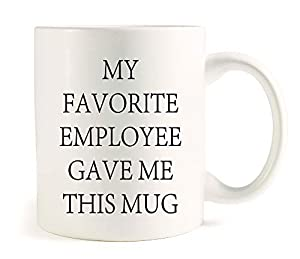Printing on both sides and it is home and restaurant use.Made of high quality white ceramic for outstanding durability with our unique design,11 oz capacity. Start your day with your every morning brewed coffee/tea or any favorite drinks in this nove...