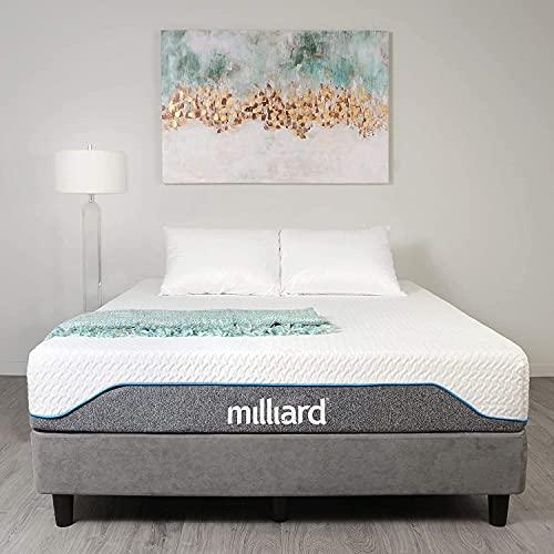 Milliard Colchón Viscoelástico 90x200 cm, 20cm de Altura - Máximo Confort y Soporte (Blanco)