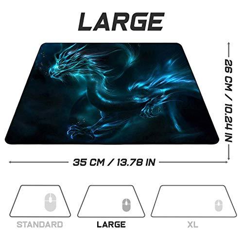 Sidorenko Gaming Mauspad | 350 x 260mm | Mousepad | spezielle Oberfläche verbessert Geschwindigkeit und Präzision | Fransenfreie Ränder | rutschfest | Blau
