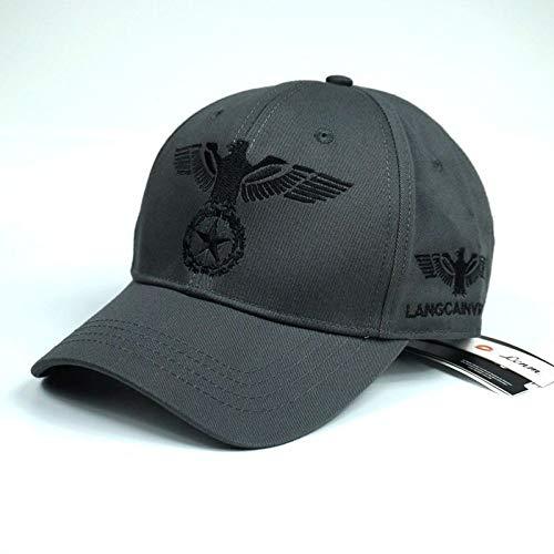 Preisvergleich Produktbild sdssup Frühling und Herbst Abschnitt Baumwollkappe Baseballmütze Herrenhut grau schwarz einstellbar