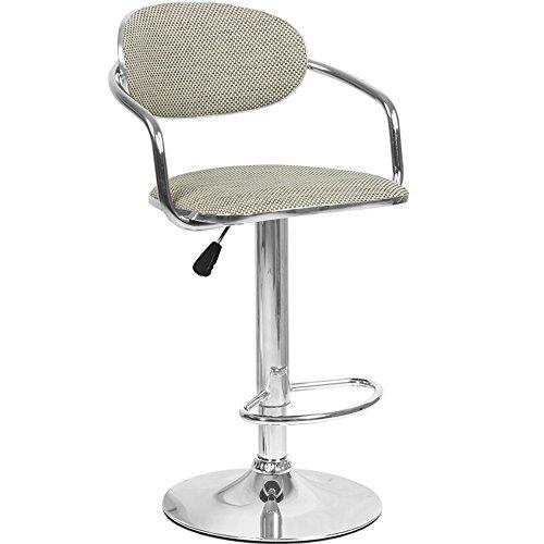 YAN Jun Bar Chaise Chaise en Rotin De Mode Chaise Avant Bureau Métal Tabourets Tabouret Haut Hauteur Réglable Pivotant Chaise À Dents Blanc/Marron en Option (Couleur : Beige)