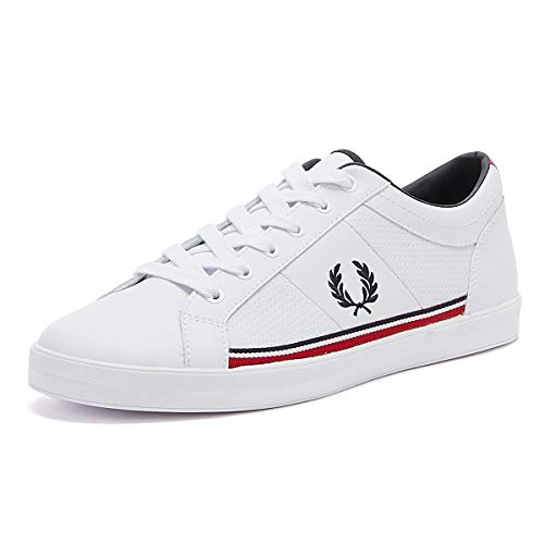 Fred Perry Baseline Perf Leather Mens White Sneakers-UK 9 / EU 43