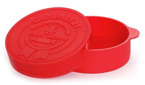 Yoko Design 1233 Cuit Camembert Silicone/Platine Rouge - 12.5 cm de diametre