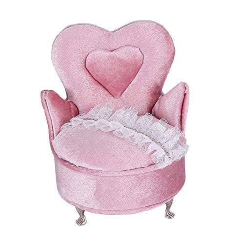harayaa Creative Heart Chair Collar Anillos Joyas Vitrina Caja