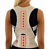 Ducomi® Extreme Posture?Corrector postural ajustable a banda magnética para espalda?Correa de soporte y ayuda de corrección con 12imanes 800Gauss S beige