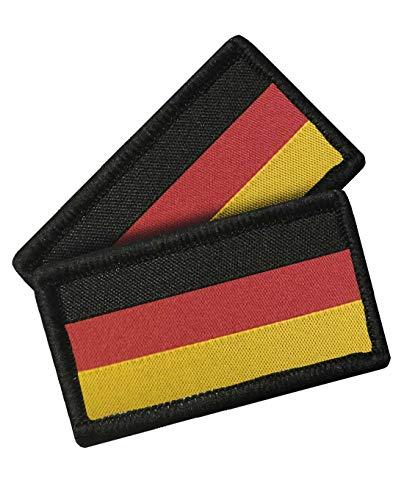 TACWRK Patch Deutschlandflagge mit Klettrückseite gewebt Doppelpack 52 x 29 mm