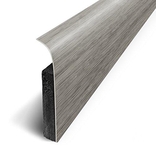 Lote 3M de 5 zócalos adhesivos 120x 70cm, gris, D180517D
