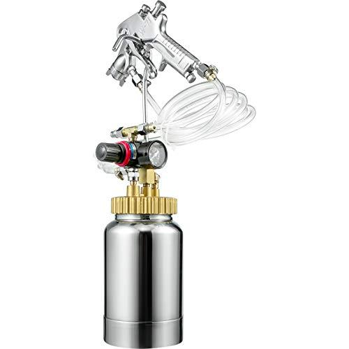 VEVOR Farbspritzpistole 2L Farbbehälter Lackierpistole 1,8mm, Druckbehälter Lackier System Farbsprühpistole zum Auftragen von Wasserfarbe, Lacken, Flecken, feine Oberflächen für Innen- und Außen
