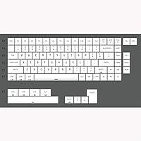 PCアクセサリ 白プロファイルキーキャップ色素サブ紫フォントの色PBTキーキャップのための機械的キーボードGh60 Xd60 Xd84 Tada68 87 96 104 キーボードカバー (Color : CW 84 iso)