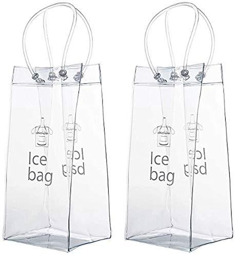 Wacemak1r Enfriador de botellas enfriador de botellas Bolsa de hielo de vino tinto para el hogar, bar, restaurante, 2 piezas