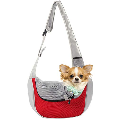 EVBEA Dog Carrier Sling Front Pack Cat Puppy Carrier Purse Breathable Mesh Travel for Small or...