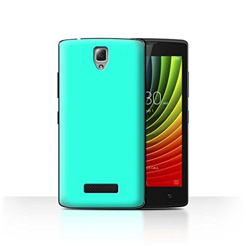 Hülle Für Lenovo A2010 Farben Türkis Design Transparent Ultra Dünn Klar Hart Schutz Handyhülle Hülle