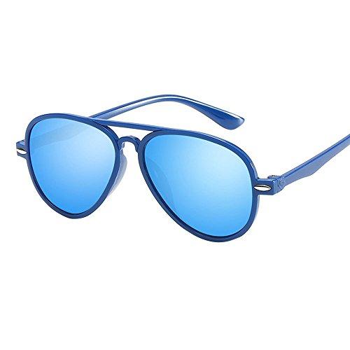 Gafas de Sol Lonshell Gafas de Sol para niños niñas bebés Gafas de Arco Iris 8 Colores Gafa Moda (3T-12T, Azul)