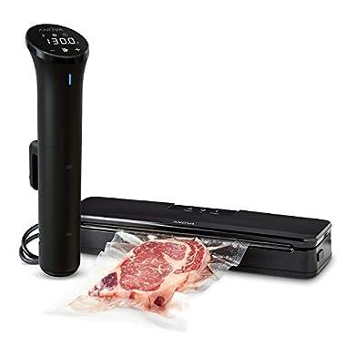 Anova Culinary | Sous Vide Precision Cooker Nano (750 Watts) & Vacuum Sealer Accessory | Bundle | Anova App Included