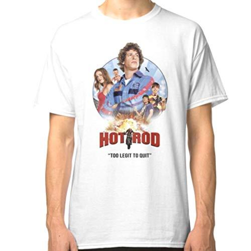 Hot Rod Movie Andy Samberg Unisex T Shirt (White, L)