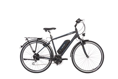 Fischer Herren - E-Bike Trekking ETH 1801, anthrazit matt, 28 Zoll, RH 50 cm, Hinterradmotor, 48 V Akku