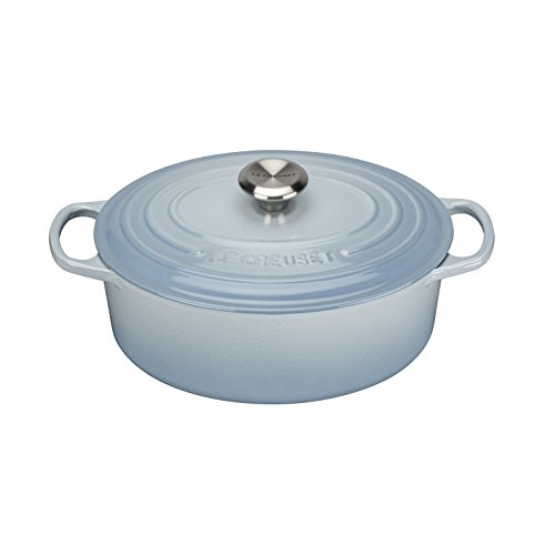 Le Creuset Signature gietijzeren braadpan met deksel, Ø 25 cm, ovaal, geschikt voor alle warmtebronnen en inductie, volume: 3,2 l